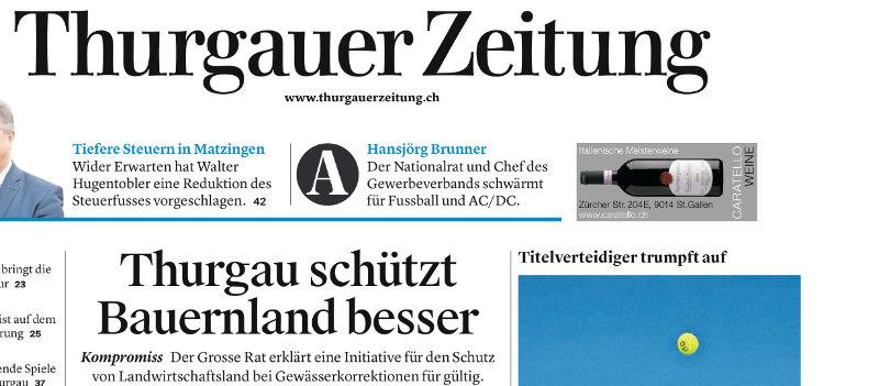 Grosser Rat zur Thurgauer Volksinitiative Kulturlandschutz bei Gewässerkorrektionen